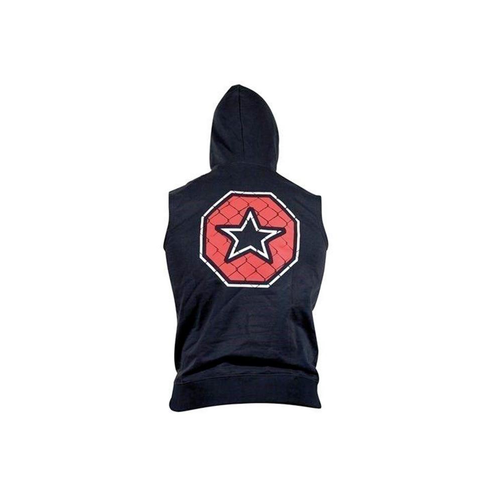 Črn hoodie z zvezdo