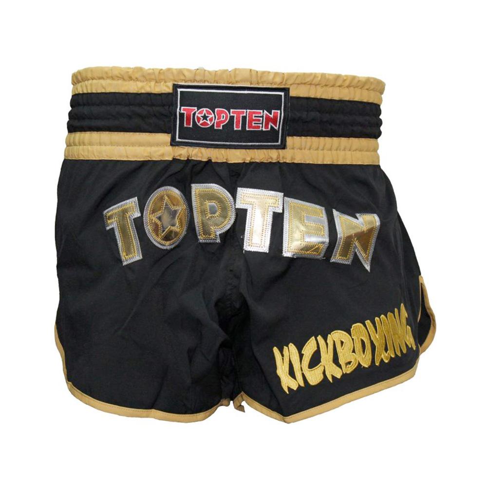 Črno zlate kratke hlače