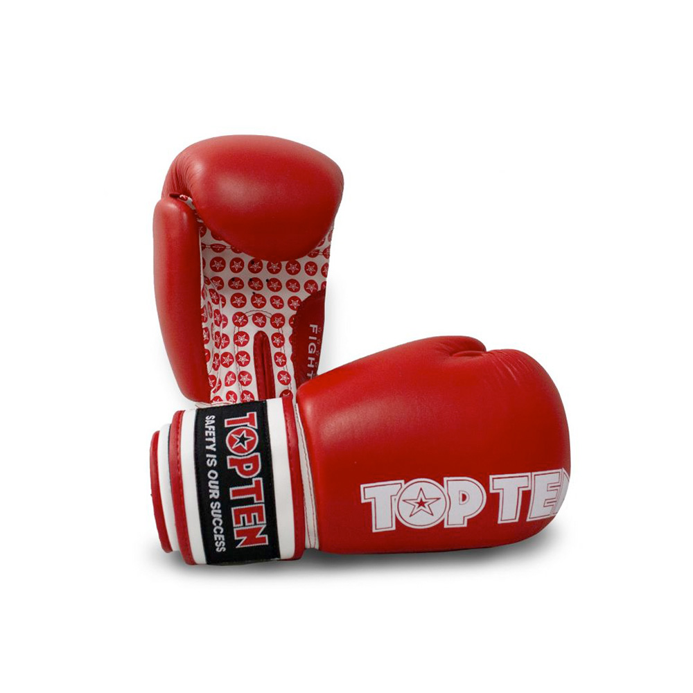 Rdečo bele rokavice