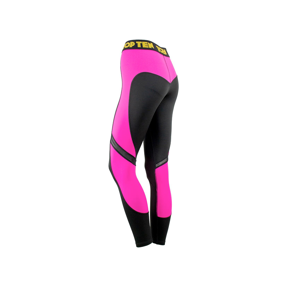 Črno pink legice